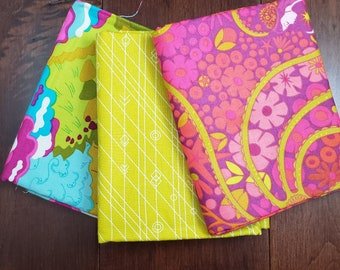 3 Half Yard Fabric Bundle - Diving Board by Alison Glass for Andover Fabrics - Pink 1 - Cotton