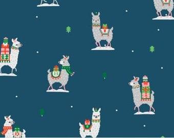 Dear Stella Fabrics - Fa La La Llama - Llama Gifts In Omni - STELLA 1228 - Holiday / Seasonal
