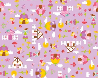Cordelia Fabric E - Fairy Garden by Riley Blake - C7720 - Purple- Main in Purple