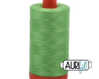 50 Wt AURIFIL - Shamrock Green 6737 - Mako Made in Italy 1300m Quilt Cotton Quilting Thread (MK50SC6)