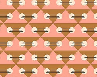 FIGO Fabrics - Treehouse by Lemmoni - Geo Pink / Multi (90072 21 PINK) - Modern Maker Box