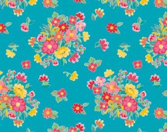 Riley Blake Fabrics - The Handpicked Collection by Tammie Green -Teal (C7600)