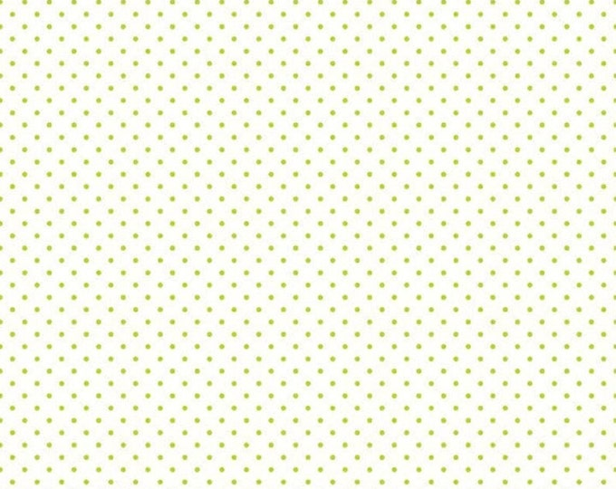 CLEARANCE - Riley Blake - Swiss Dot - C660-32 Lime