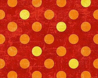 Northcott Fabrics - Spot On - Hot Sauce (22597-58) - Blender