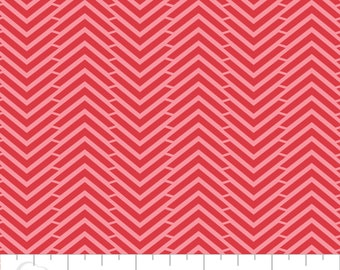 5 Yard Cut - Camelot Fabrics - Mixology Ruby in Herringbone - Blenders