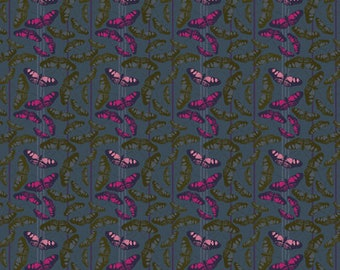 Free Spirit Fabrics - Passion Flower by Anna Maria Horner - Migration in Midnight (PWAH129.NIGHT) - Modern Maker Box