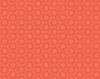 Skipbo Fabric F - Shades of Summer by Heather Peterson - Red Hexi - C9785-Red