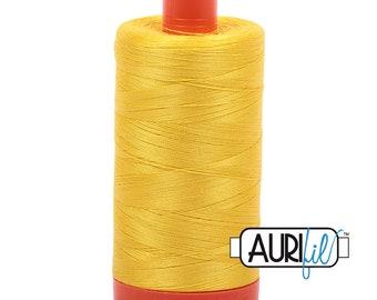 50 Wt AURIFIL - Canary 2120 - 1300M Cotton Quilting Thread