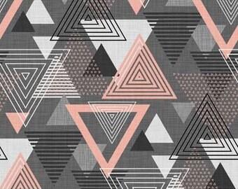 Northcott Fabrics - Cosmo Charcoal Pink - Large Triangle - 23055.95 - Modern Maker Box.jpeg