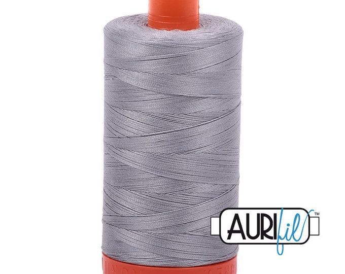 50 Wt AURIFIL - Mist 2606 - Mako Made in Italy 1300m Quilt Cotton Quilting Thread
