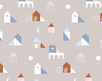 FIGO Fabrics - Moonlit Voyage by Amy Van Luijk - (90053 14 Taupe) - Juvenile
