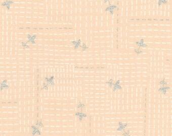 Robert Kaufman - Wayside by Karen Lewis - White stitch on peach (AWIM-18690-14) - Modern Maker Box