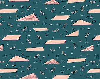 FIGO Fabrics - Treehouse by Lemmoni - Grassland Teal (90069 64 TEAL) - Modern Maker Box