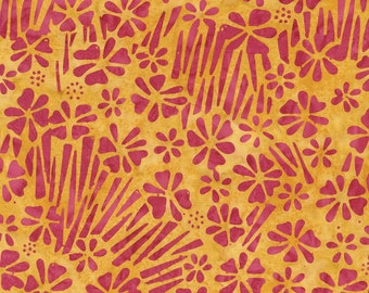 CLEARANCE - Timeless Treasures - Tonga Neon - Tangy Paperwhites Batik (B4383)