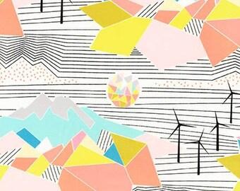 Robert Kaufman Fabrics - Palm Canyon by Violet Craft - Multi Landscape Crosshatch - Modern Maker Box