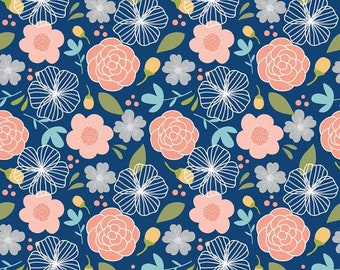 Riley Blake Fabrics - Azure Skies by Simple Simon - C8150R NAVY (Sophia Fabric F)