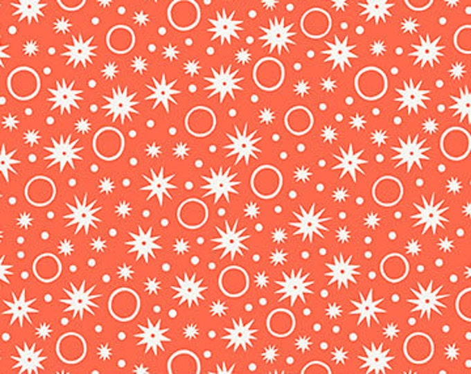 Sunstruck Fabric C - Ring Toss by Emily Taylor for FIGO - Orange Ring/Star - 90159-24