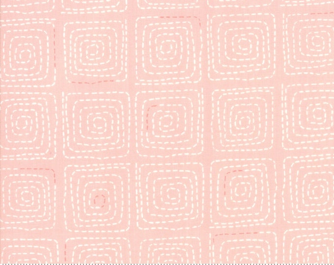 Tiffany Fabric F - Breeze by Zen Chick for Moda - Stitched Coral - 1693-18