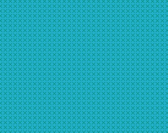 Andover Fabrics - Handiwork by Alison Glass - Cross Stitch in Teal (A-9254-T) - Blender