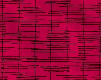 Windham Fabrics - Norma Rose by Natalie Barnes - Dark Pink Cross Hatch - 52013-6