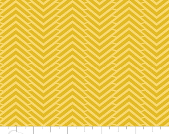 CLEARANCE - Camelot Mixology - Herringbone in Tumeric - Blender Fabric