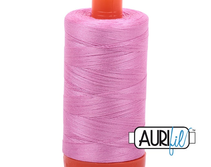 50 Wt AURIFIL Medium Orchid 2479 Mako Made in Italy 1300m Quilt Cotton Quilting Thread (MK50SC6)