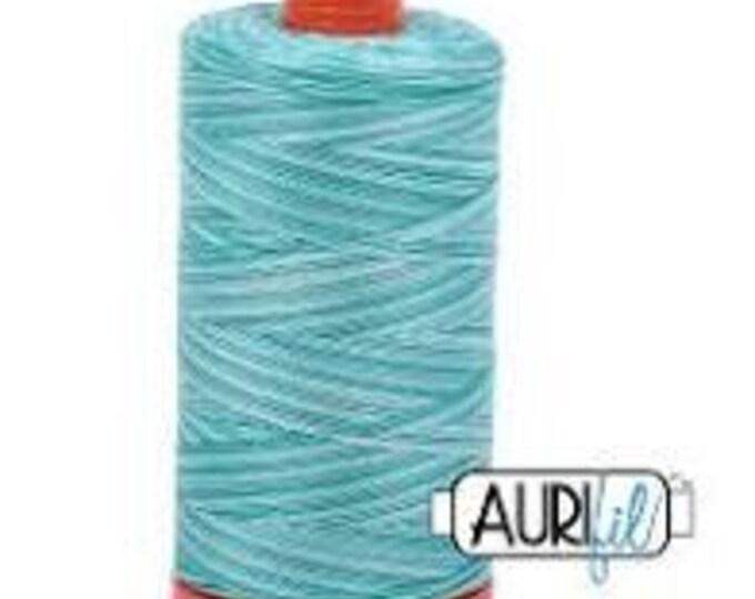 50 Wt AURIFIL - Turquoise Foam 4654 - Variegated 1300M Cotton Quilting Thread