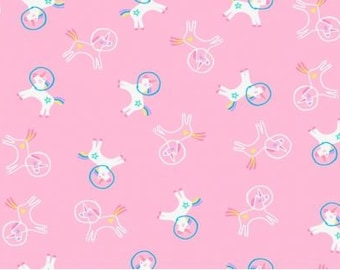 Dear Stella Fabrics - Space Magic Unicorns - STELLA-1279 BUBBLEGUM - Juvenile