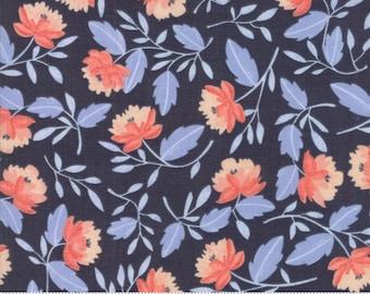 Moda Fabrics - Twilight by One Canoe Two - Peony Midnight (36031 15) - Floral