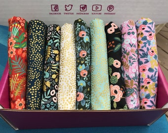 Menagerie by Rifle Paper Company for Cotton + Steel (RJR Fabrics)  - 9 print bundle -  Quilters Cotton
