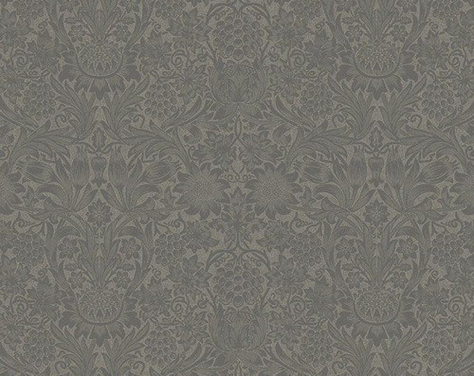 Chess Fabric E and Binding - Pure Minerals by The Original Morris & Co - Pure Sunflower Slate - PWWM036-Slate