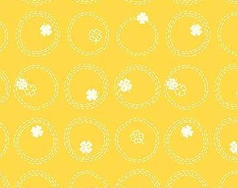 FIGO / Northcott Fabrics - Lucky Charms by Ghazal Razavi - 92004-52 YELLOW - Modern