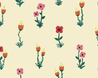 CLEARANCE - One Yard Cut - Meriwether by Amy Gibson for Windham Fabrics - Folk Fleur in Farmhouse -  Quilters Cotton