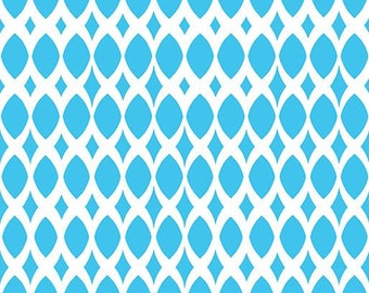 Contempo by Benartex - Gridwork - Diamond Ovals Turquoise - 06814.85 - Blender