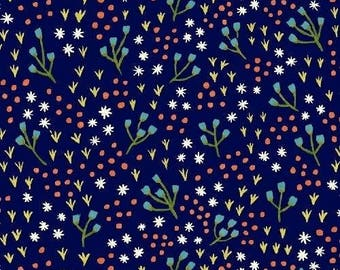 CLEARANCE - One Yard Cut - High Meadow in Nightfall - Meriwether by Amy Gibson for Windham Fabrics -  Quilters Cotton
