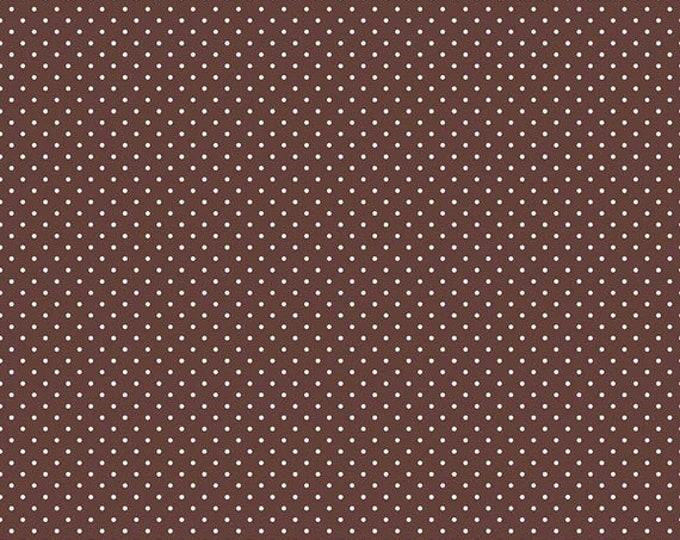 CLEARANCE - Riley Blake - Swiss Dot - C670-90 Brown