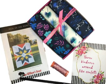 "Complete Modern Maker Box - Lagoon by Rashida Coleman-Hale for Cotton + Steel Fabrics (RJR) Box ""Blue"" -  Quilters Cotton"