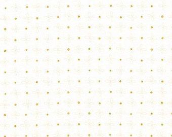 Robert Kaufman - Wayside by Karen Lewis - Gold dot on white (AWIM-18691-1) - Modern Maker Box