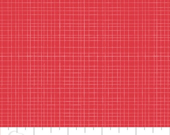 5 Yard Cut - Camelot Fabrics - Mixology Ruby in Linen - Blenders