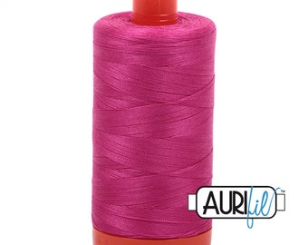 50 Wt AURIFIL - Fuchsia 4020 - 1300M Cotton Quilting Thread (MK50SP4020)