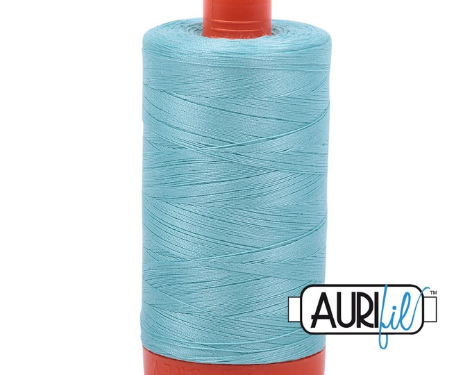 50 Wt AURIFIL Light Turquoise 5006  Mako Made in Italy 1300m Quilt Cotton Quilting Thread (MK50SC6)