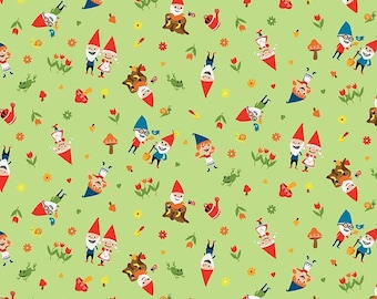 Riley Blake Fabrics - Gnome and Gardens by Shawn Wallace - C7891 - Green