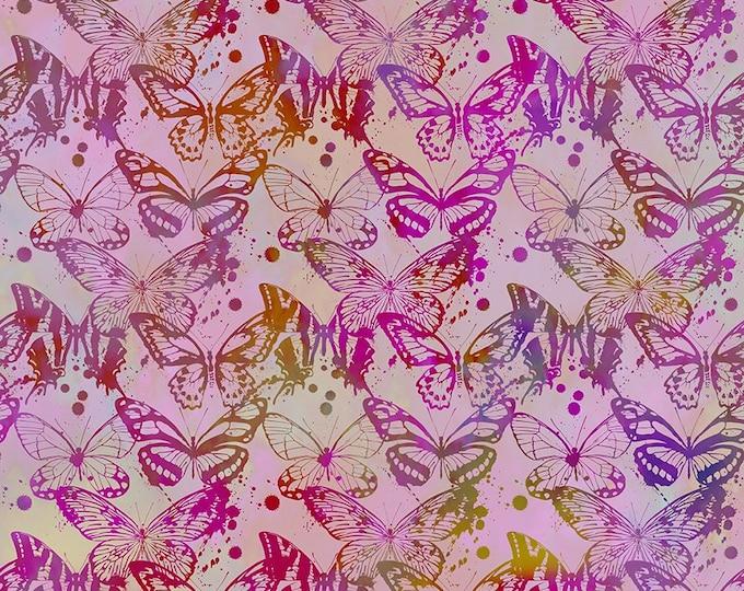 Rummikub Fabric C - Seasons by Jason Yenter - Lavender Butterflies - 7SEA-4