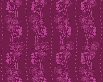 Free Spirit Fabrics - Second Nature by Anna Maria Horner - Buttercups in Ruby (PWAM009) - Modern Maker Box