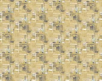 One Yard Cut - Urban Grunge by Northcott Fabrics - 22675 Yellow -  Quilters Cotton