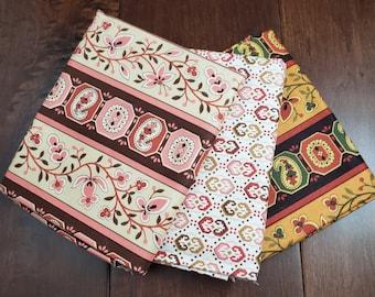 3 Half Yard Fabric Bundle - Reproductions 2 - Creams - Cotton