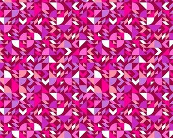 Bianca Fabric E - Andover Fabrics Mixtape by Libs Elliot - A-8867-E - Come on Over Violet