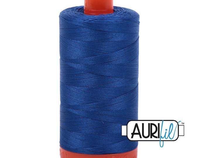 50 Wt AURIFIL Medium Blue 2735 Mako Made in Italy 1300m Quilt Cotton Quilting Thread (MK50SC6)