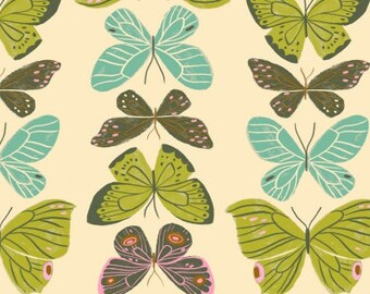 CLEARANCE - One Yard Cut - Butterflies on Cream - Woodland Nymph by Rae Ritchie for Dear Stella -  Quilters Cotton