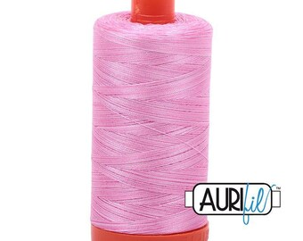 50 Wt AURIFIL - Bubblegum 3660 - Variegated 1300M Cotton Quilting Thread (MK50SP3660)